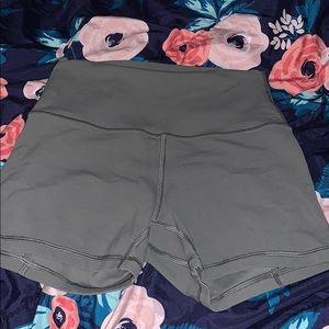 Olive green lululemon align shorts